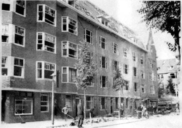 Oorlogsschade Roerstraat - 14 juli 1941